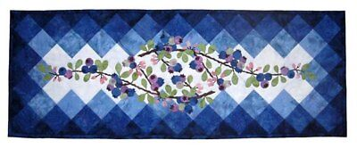 Wildfire Designs Alaska Berry Blues Table Runner Applique Quilt Pattern for sale  Dillon