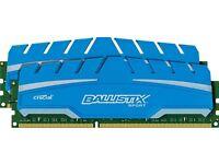 Ballistix Sport 16GB Kit (2 x 8GB) DDR3-1866 RAM