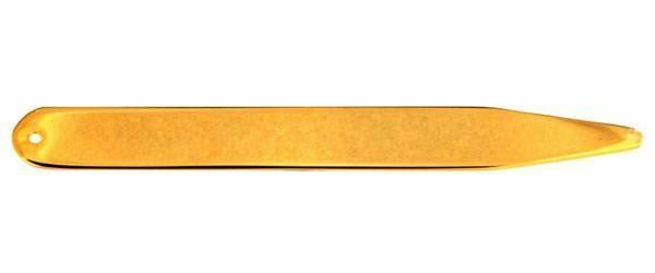 David Van Hagen Mens Gold Plated Collar Stiffeners - Gold