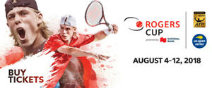 Rogers Cup 2018 Opening Day Tickets (Toronto) Night Session
