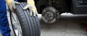 changement de pneu à domicile