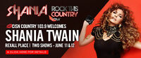 Shania Twain - two tickets - Vancouver Roger's Arena
