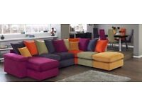 Freestyle dfs multicolorsofa , arm chair and foot rest + free coffee table