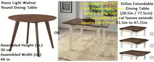 BRAND NAME DINNING TABLE * round / expandable tables *