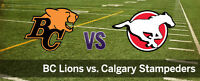 Calgary Stampeders vs BC Lions - Sept. 18
