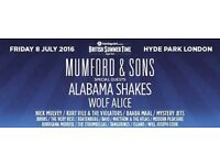 Mumford & Sons PRIORITY ENTRY / HYDE PARK / Friday 8th July