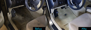 Deep interior cleaning with steam