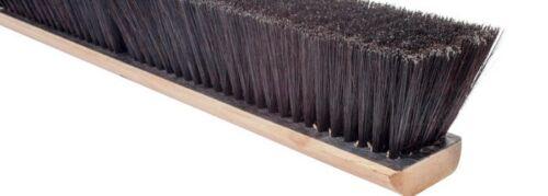 """Magnolia Brush #924-X 24"""" Black Tampico Center/Black Plastic & Horsehair Border"""