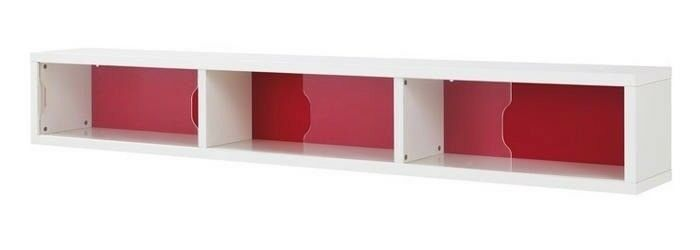 designer fashion f8b0d 7b4d2 Ikea Odda red and white wall shelf display cabinet with glass sliding doors  | in Kilburn, London | Gumtree