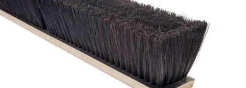 "Magnolia Brush #1724-W 24"" All Steel Wire Center/Black Tampico Border Push Broom"
