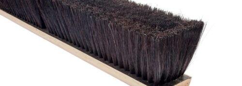 "Magnolia Brush #1736 36"" Black Horsehair Steel Wire Black Tampico Push Broom"