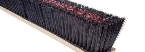 "Magnolia Brush #1136 36"" Coarse Brown Plastic Center/Black Plastic Border Broom"