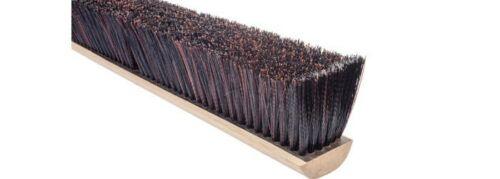 "Magnolia Brush #5618 18"" Dark Red Coarse & Fine Black Plastic Mix Broom Head"