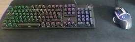Logitech g512 SE keyboard and g5O2 SE mouse silver edition bundle