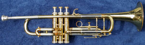 1950's Couesnon Trumpet, b flat with mouthpiece, case, valve oil