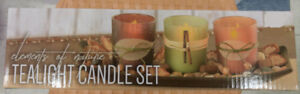 New Tea light Glass Candle Holder Set Home Decoration Holiday