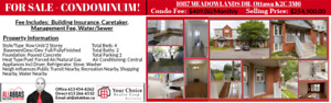 FOR SALE STUNNING CONDOMINIUM OF 1087 MEADOWLANDS DR.