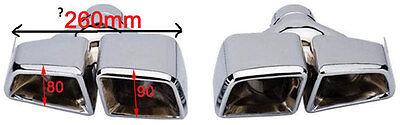 Mercedes Benz AMG 63 - Look Sport Endrohr Endrohre,  Satz links und rechts