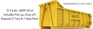 Dumpster Rental, Garbage Bin Rental, Roll off bin & Skip Rental