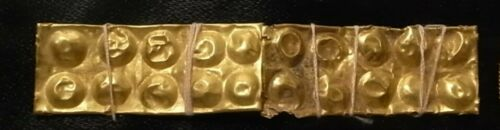 Ancient 3 rectangular gold bars  Phoenician or Near Eastern I mil BC. 4.5 cm