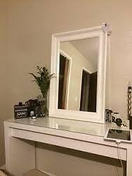White Ikea Hemnes Mirror