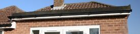 Black guttering - 21m plus brackets, joins, stop ends.