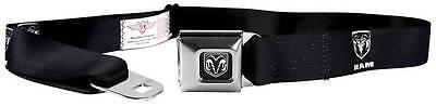 Seatbelt Men Canvas Web Military Dodge Ram 1500 Black Silver Logo Quality
