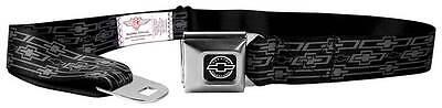 Seatbelt Men Canvas Web Military Chevrolet Silverado Black Retro Mono Black Gray