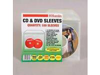 100x Plastic CD/DVD Wallets 2pk