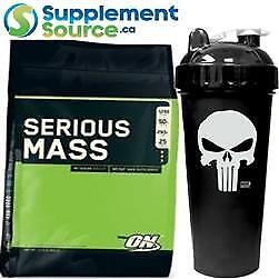 .Optimum Nutrition SERIOUS MASS, 12lb - 35 Shakers to Choose