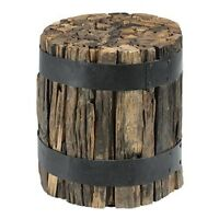 recycled railway ties accent table