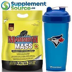 .Mammoth MASS GAINER, 15lb - 35 Shakers to Choose