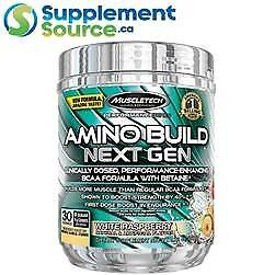 .    MuscleTech AMINO BUILD, 30 Servings - White Raspberry