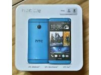 New HTC ONE (M7) 32GB Quad-Core 4.7 Inches Unlocked Android Smart Phone - Blue