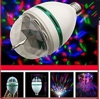 E27 3W RGB LED Stage Light Bulb Colorful Rotating for any $14.99