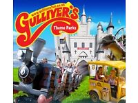4 Tickets for Gullivers Land Theme Park - use any day until end of April