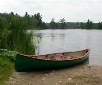 Small one man canoe