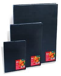 HARDBACK SKETCHBOOKS A6 A5 A4 A3 A2 SPIRAL OR CASE BOUND BLACK OR CANVAS COVER