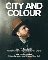 CITY AND COLOUR TORONTO JUNE 17 - SECTION 203 AMAZING SEATS!!!