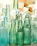 HISTORIC GLASS BOTTLE THE BENEFICIAL HOME DECOR