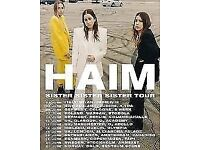 Haim - sat 16th June. Alexandra Palace.