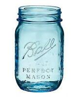 Beautiful Blue Mason Jars * Calgary Party Rentals