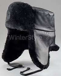 0a7f692bd Mouton Sheepskin & Leather Russian Ushanka Hat