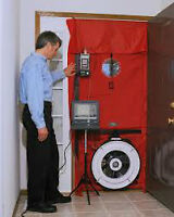 Save money with a Home Efficiency Test, Air Leakage, Blower Door