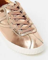 Brand NEW Ladies Sneakers TRETORN Shiny Metallic Rose Gold Size 6