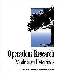 Textbook: Operations Research Models & Methods