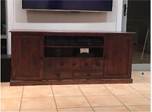 Solid wood tv unit entertainment cabinet Cremorne Point North Sydney Area Preview