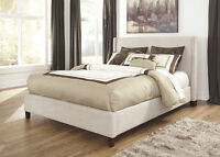 Famous Brand Name Queen Size Upholstered Bed Only $ 439