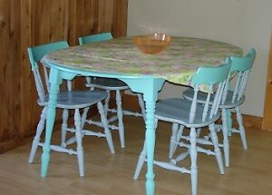 Farmhouse Style Table and Chairs - Refurbished Antique