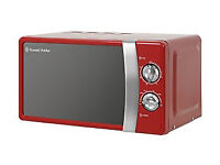 Russell Hobbs RHMM701R 17L Manual Microwave - Red, RRP £60.